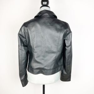BB Dakota Jackets & Coats - BB Dakota Ray Pin Patch Faux Leather Jacket Medium